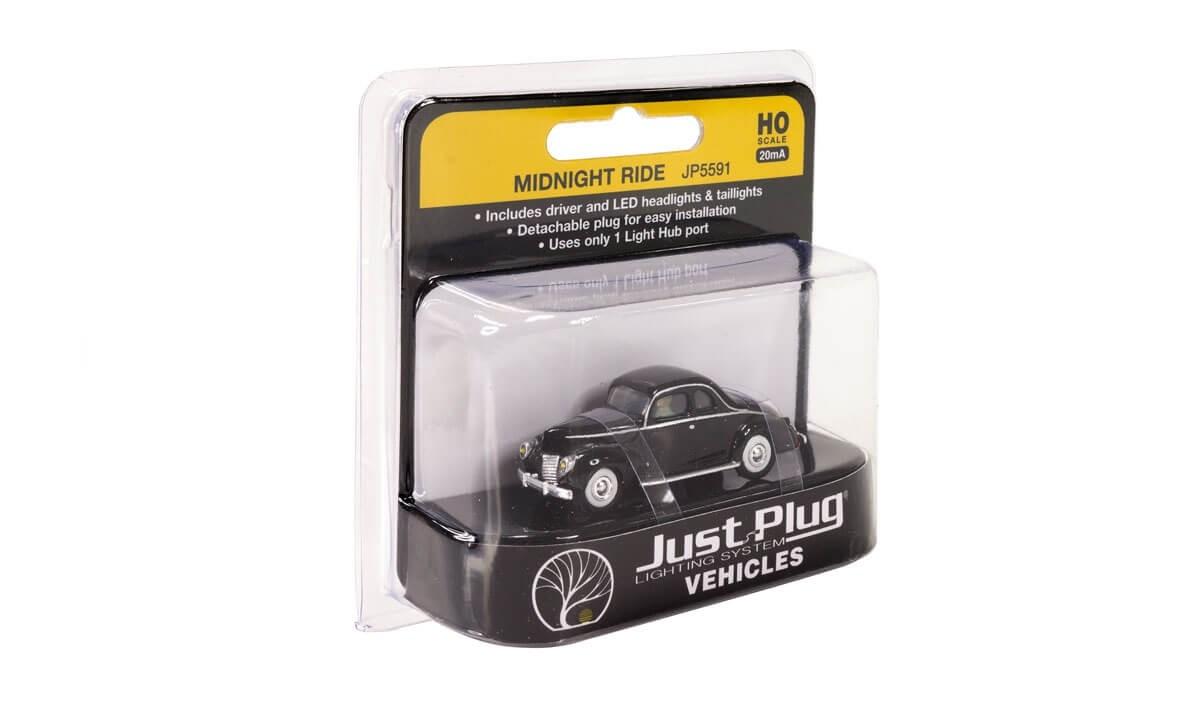 Woodland Scenics HO Scale Just Plug® Midnight Ride Lighted Vehicle