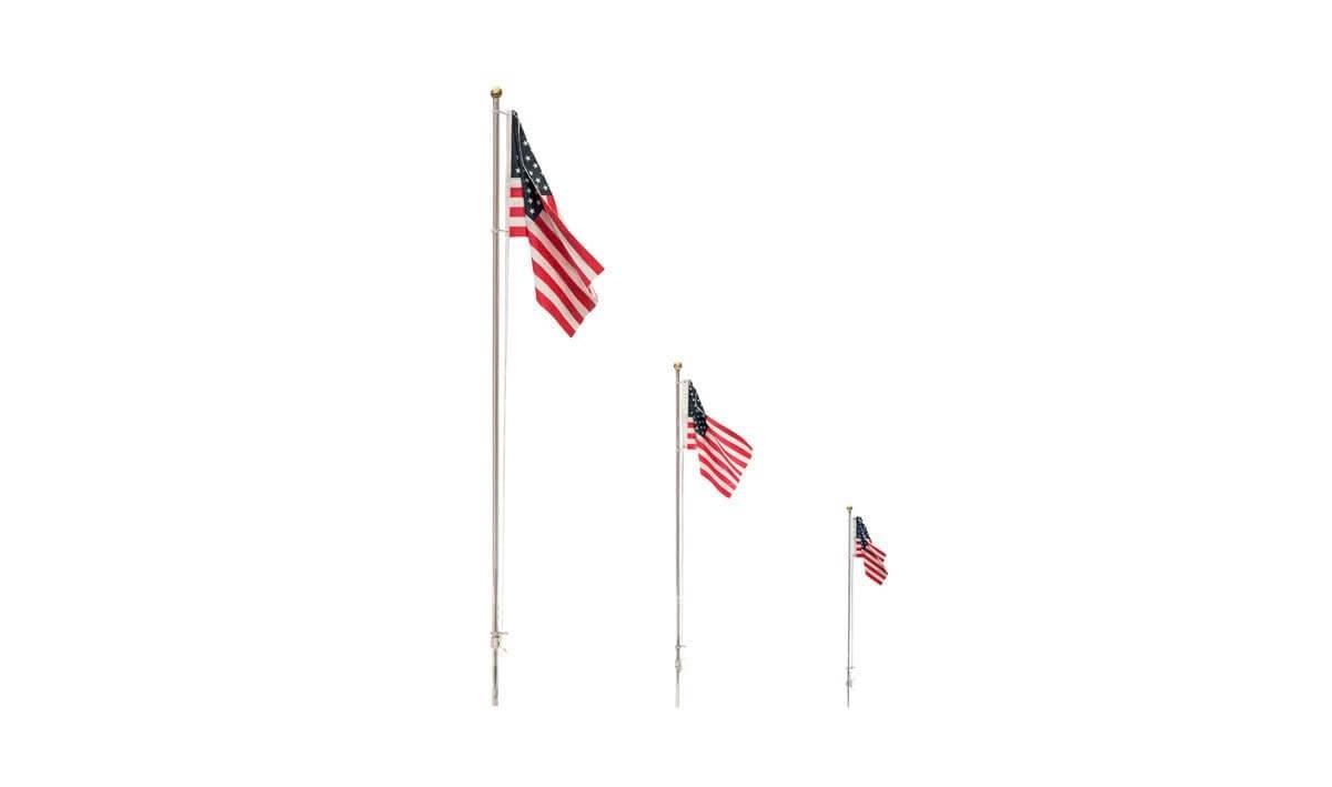 Woodland Scenics Just Plug Small US Flag Pole