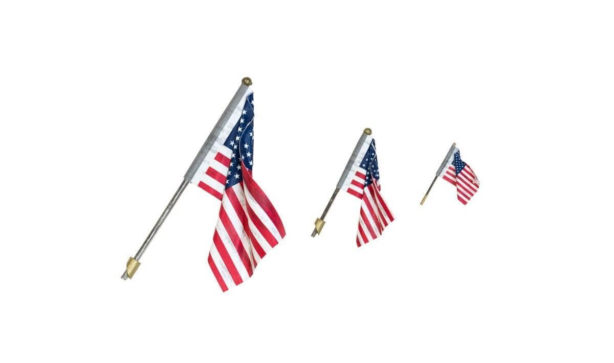 Woodland Scenics Just Plug Sarge US Flag Wall-Mount