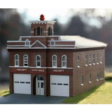 Branchline Trains HO Scale Hermann Firehouse Laser-Art Kit