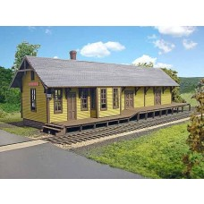 Branchline Trains HO Scale Centerhall Depot Laser-Art Kit