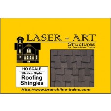 Branchline Trains HO Scale Shake Style Roofing Shingels Laser-Art Roofing