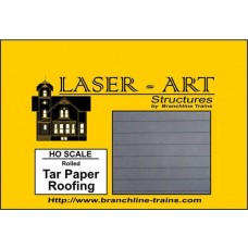 Branchline Trains HO Scale Rolled Tar Paper Roofing Laser-Art Roofing