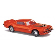 Busch HO 1974 Pontiac Firebird Trans Am OR/BLK Model Car