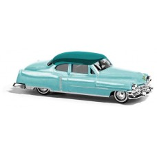 Busch 1952 Cadillac Coupe Green 2-Tone Model Car
