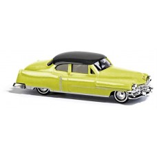 Busch 1952 Cadillac Coupe Yellow Black Model Car