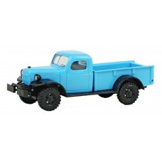 Busch HO Dodge Power Wagon 4x4 Pickup Truck Blue Model Car