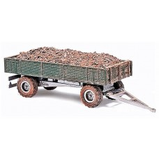 Busch HO 1958 Trailer w/ Load Green Model Vehicle