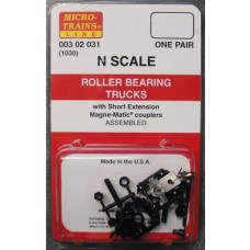Roller Bearing Trucks w/Short Extended Couplers (Brown) (10 Pairs)
