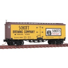 Schott Brewing Co. GARE 36' Wood-Sheathed Ice Reefer Rd #9950