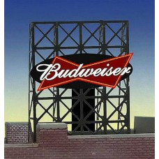 Micro Structures HO Budweiser Animated Rooftop Billboard