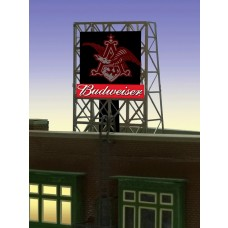 Micro Structures HO Small Eagle Animated Neon Rooftop Billboard