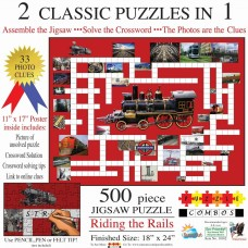 Sunsout Inc.Combo Puzzle Riding the Rail 500pc with Crossword