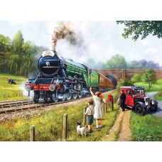 Sunsout Inc. Watching the Trains 1000pc Puzzle