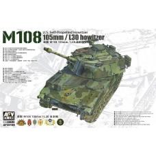 AFV Club 1/35 US M108 SP 105mm Plastic Model Kit