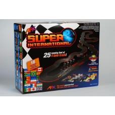 AFX Super International 4 Lane Electric HO Slot Car Set 21018