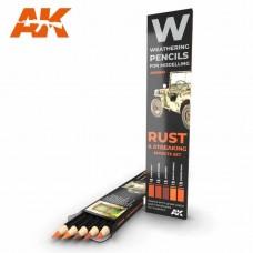 AK Interactive Weathering Pencils: Rust & Streaking Effects Set