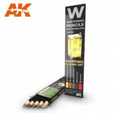 AK Interactive Weathering Pencils: Chipping & Aging Set