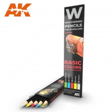 AK Interactive Weathering Pencils: Basic Colors Shading & Demotion Set
