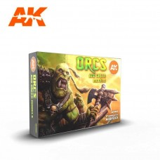 AK Interactive 3rd Gen Orcs & Green Creatures Paint Set