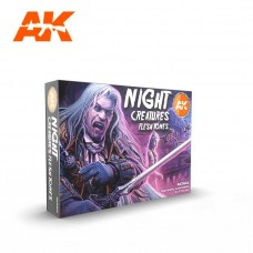 AK Interactive 3rd Gen Night Creatures Flesh Paint Set