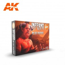 AK Interactive 3rd Gen Inferno & Red Creatures Paint Set