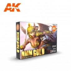 AK Interactive 3rd Gen Non Metallic Metal Gold Set