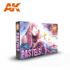 AK Interactive 3rd Gen Pastels Colors Paint Set
