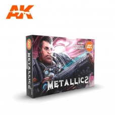 AK Interactive 3rd Gen Metallics Paint Set