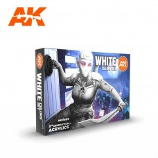 AK Interactive 3rd Gen White Colors Paint Set