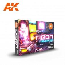 AK Interactive Neon Color Set 3rd Gen Paint Set