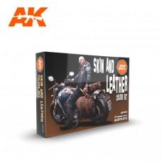AK Interactive Skin & Leather Set 3rd Gen Paint Set