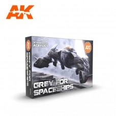 AK Interactive Gray for Spaceship Set 3rd Gen Paint Set