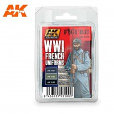 AK Interactive WWI French Uniforms Acrylic Paint Set
