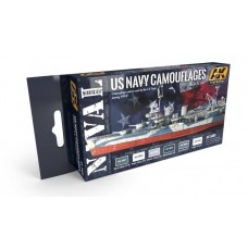 AK Interactive US Navy WWII Camouflages Vol 1 Acrylic Paint Set