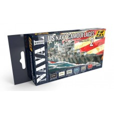 AK Interactive US Navy WWII Camouflages Vol 2 Acrylic Paint Set