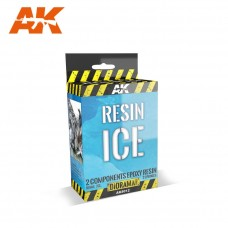 AK Interactive Resin Ice Effect 2-Components Epoxy 150ml Kit