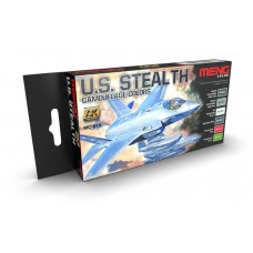 AK Interactive US Stealth Camouflage Colors Acrylic Paint Set