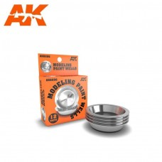 AK Interactive Aluminum Modeling Paint Wells 12 Pack