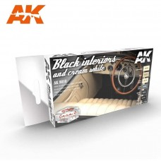 AK Interactive Black and Cream White Interior Paint Set