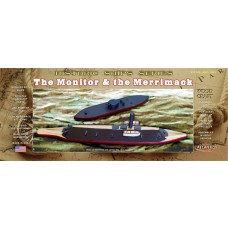 Atlantis Model Company Monitor and Merrimack Battle of the Ironclads Wooden Craft Kit