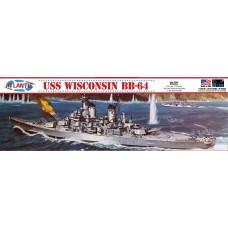 Atlantis 1:535 USS Wisconsin BB-64 Battlesip Plastic Model Kit