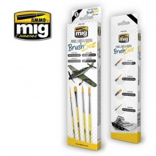 AMMO by Mig Panel Lines & Fading Brush Set