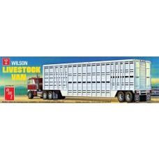 AMT 1/25 Wilson Livestock Van Trailer Plasitc Model Kit AMT1106