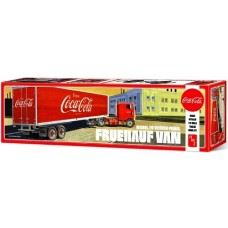 This is the 1/25 scale Fruehauf Beaded Van Semi Trailer Plastic Model Kit made by AMT.