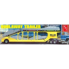 AMT 1/25 Scale 5-Car Haulaway Trailer Plastic Model Kit AMT1193