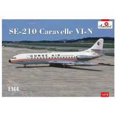 A Model 1:144 SE210 Caravelle VI-N Plastic Model Kit