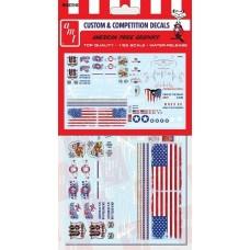 AMT 1/25 American Pride Graphic Custom Decal Set