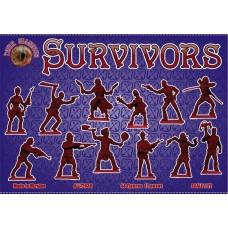 Alliance Figures 1/72 Survivors (Anti-Zombies) Plastic Model Kit