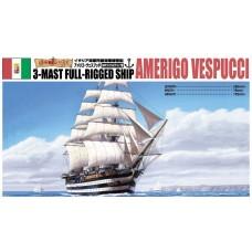 Aoshima 1:350 Amerigo Vespucci 3-Masted Rigging Sailing Ship Plastic Model Kit
